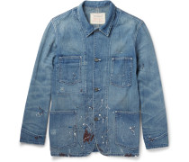 Paint-splattered Denim Jacket