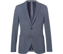Light-blue Newon Cotton-jersey Blazer