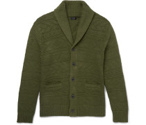 Shawl-collar Knitted Cotton Cardigan