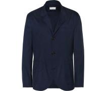 Blue Virgin Wool And Silk-blend Blazer