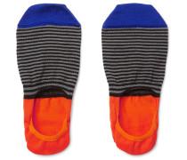 Striped Mercerised Cotton-blend No-show Socks
