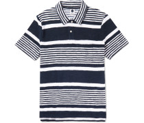 Quince Striped Cotton-terry Polo Shirt