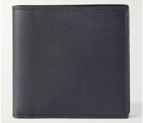 Panama Cross-Grain Leather Billfold Wallet
