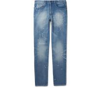 Slim-fit Distressed Denim Jeans