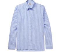 York Striped Linen And Cotton-blend Shirt