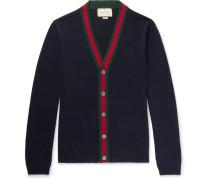 Webbing-trimmed Wool Cardigan