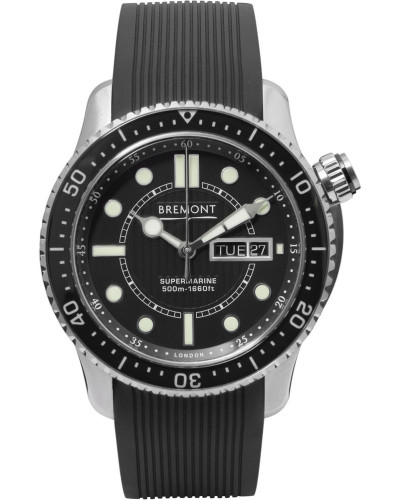S500 Supermarine Automatic 43mm Stainless Steel And Rubber Watch - Black