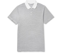Slim-fit Striped Cotton-jersey Polo Shirt