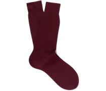 Ribbed Cotton Socks