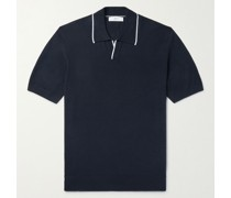 Slim-Fit Contrast-Tipped Knitted Cotton Polo Shirt