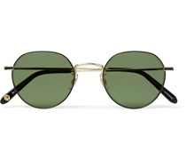Robson Round-Frame Gold-Tone Stainless Steel Sunglasses