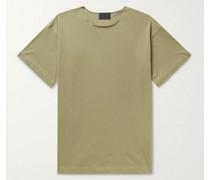 Distressed Logo-Appliquéd Cotton-Jersey T-Shirt