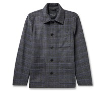 Checked Wool-Blend Chore Jacket
