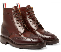 Two-tone Leather Brogue Boots