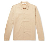 Rami Checked Cotton and Wool-Blend Shirt