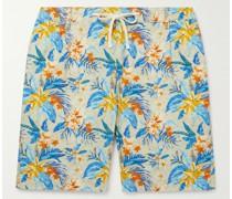Tank Slim-Fit Printed Cotton Drawstring Shorts