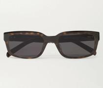 Square-Frame Tortoiseshell Acetate Sunglasses