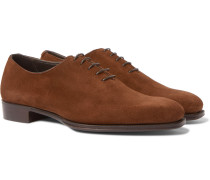 + George Cleverley Suede Oxford Shoes