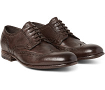 Washed-leather Wingtip Brogues