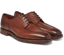Dover Burnished-leather Derby Shoes