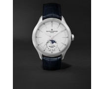 Clifton Baumatic 10549 Automatic 42mm Stainless Steel and Alligator Watch, Ref. No. M0A10549