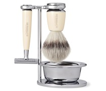 Safety Chrome and Resin Four-Piece Shaving Set