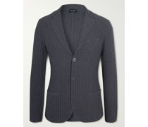Ribbed Cotton and Wool-Blend Blazer