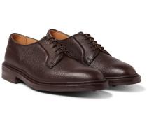 Fenwick Pebble-grain Leather Derby Shoes