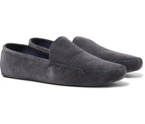 Maurice Cashmere-lined Suede Slippers