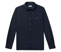 Alex Garment-Dyed Cotton-Poplin Shirt
