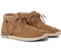 Lhamo-Folk Beaded Suede Boots