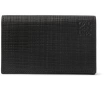 Embossed Leather Bifold Cardholder