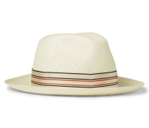 Grosgrain-trimmed Straw Panama Hat