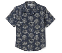 Constellation Camp-collar Printed Organic Cotton Shirt