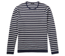 Lebor Striped Stretch-knit Sweater