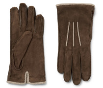 Damon Baby Cashmere-lined Suede Gloves
