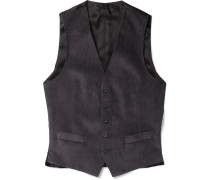 Grey Cotton-corduroy Waistcoat
