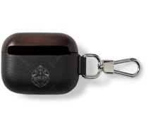 Logo-Print Leather AirPod Case