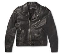Embellished Leather Biker Jacket