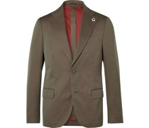 Unstructured Cotton and Silk-Blend Suit Jacket