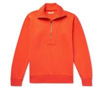 Half-Zip Fleece-Back Cotton-Jersey Sweatshirt