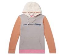 Logo-Print Colour-Block Loopback Cotton-Jersey Hoodie