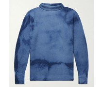Ribbed Tie-Dyed Wool Rollneck Sweater