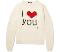 I Love You Intarsia Wool Sweater