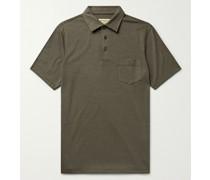 Stretch-Cotton and TENCEL-Blend Piqué Polo Shirt