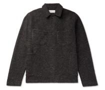 Brushed Wool-Blend Jacket