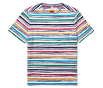 Striped Knitted Cotton T-shirt