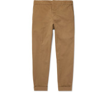 Cropped Stretch Cotton-twill Trousers