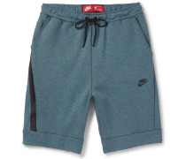 Slim-fit Tapered Cotton-blend Tech Fleece Shorts