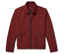 Slim-fit Twill Blouson Jacket